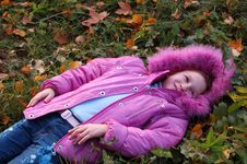 Free The Girl And Autumn Leafs Royalty Free Stock Photos - 3275238