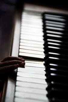 Small Hand On Piano Stock Photos