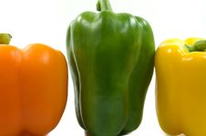 Free Peppers On White Background Stock Image - 3276121