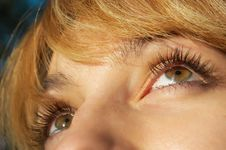 Free Blond Girl S Eyes Closeup Stock Image - 3277061