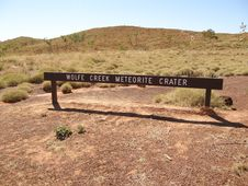 Wolfe Creek Meteorite Crater Stock Images