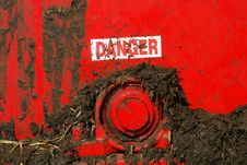 Free Dirty Danger Sign Stock Photography - 3279192
