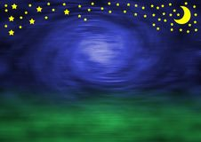 Free Blurred Sky, Stars And Moon Stock Images - 3279234