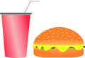 Free Burger And Soft Drink Royalty Free Stock Images - 32702639