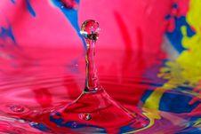 Splashing Colors, Splashing Water Stock Photography