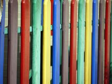 Free Multicolored Wooden Fence Stock Images - 32707644