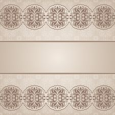 Floral Border. Royalty Free Stock Photo