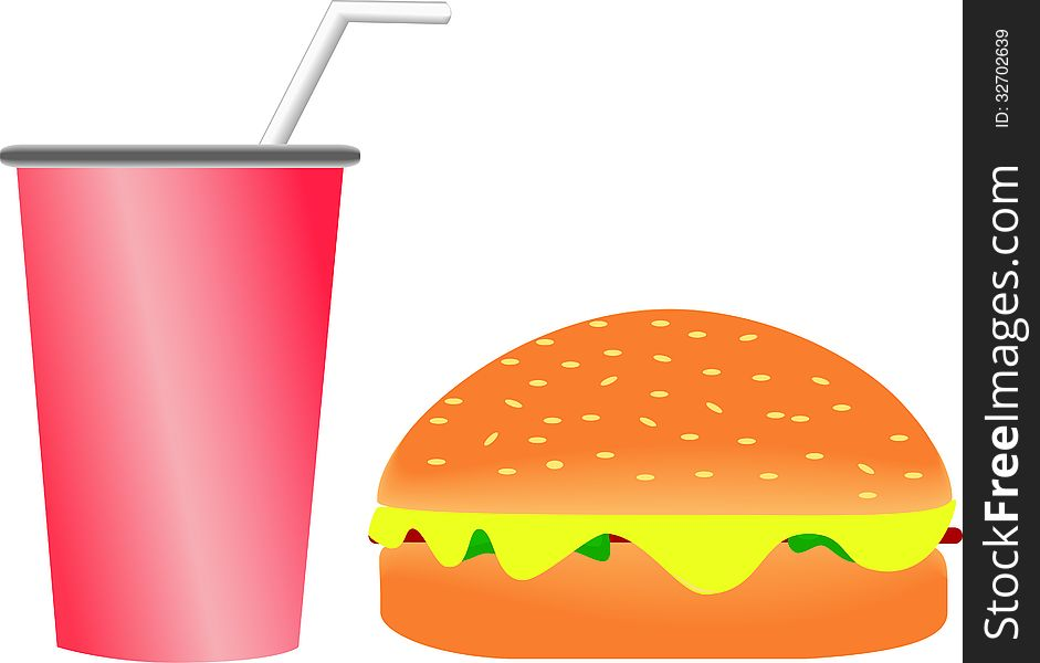 Burger and Soft drink