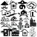 Free Logo Homes. Set2. Stock Photos - 32714913