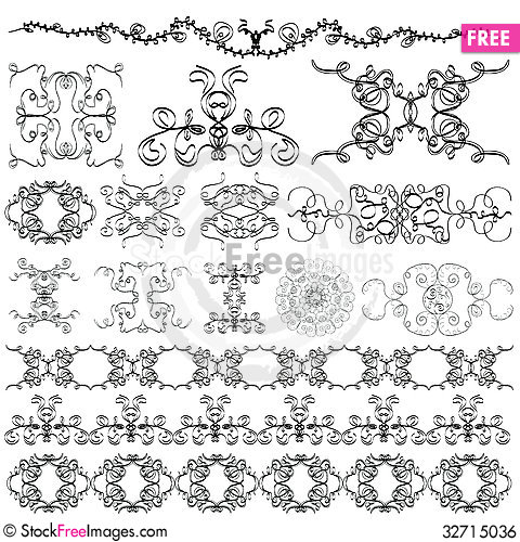 Free Elements Of The Pattern Royalty Free Stock Image - 32715036