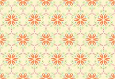 Vintage Pattern Background With Floral Ornament. S Stock Photography