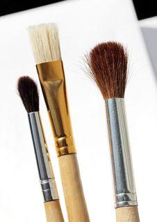 Free Three Brushes Stock Photography - 32714392