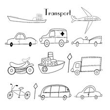 Free Illustration Of Different Types Of Transport Royalty Free Stock Photography - 32717117
