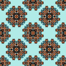 Free Geometric Ethnic Style Pattern Stock Images - 32718214