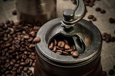 Free Coffee Mill Royalty Free Stock Photography - 32719147