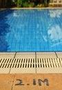 Free Swimming Pool Depth Royalty Free Stock Image - 32720556