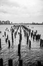 Free Broken Piers Overlooking Jersey City From The Huds Stock Photo - 32723210