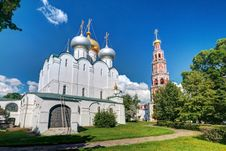 Smolensky Cathedral In Novodevichy Convent In Moscow Royalty Free Stock Photography