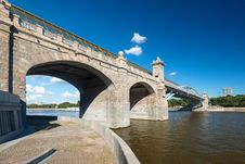 Free Pedestrian Andreevsky Bridge In Moscow Royalty Free Stock Image - 32720916