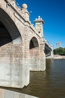 Free Pedestrian Andreevsky Bridge In Moscow Stock Images - 32720934