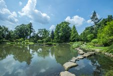 Free Pond In Japanese Garden In Wroclaw Stock Image - 32723401