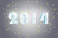 Free 2014 Silver Stock Image - 32725061