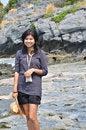 Free Beautiful Young Asian Woman On Beach Stock Image - 32731441