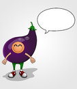 Free Eggplant Character Royalty Free Stock Photos - 32734638