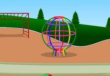 Wire Ball Playground Stock Photo