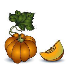 Free Autumn Pumpkin  On White Background Stock Photos - 32738693