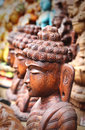 Free Wooden Statue Or Idol Of Lord Buddha Meditating Royalty Free Stock Photography - 32743707