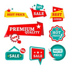 Sale & Discount Badges Stock Image
