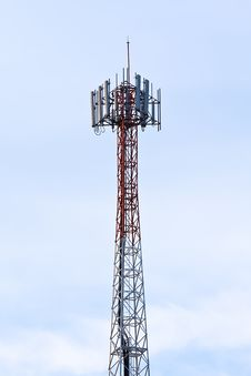 Free Telecom Tower. Royalty Free Stock Photo - 32740985