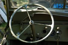 Free Dashboard WW2 Truck Stock Photography - 32743842