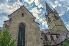 Gothic Cathedral In Centre Of Sibiu Stock Photography
