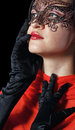 Free Girl In The Masquerade Mask Royalty Free Stock Photo - 32751285