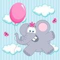 Free Elephant On Balloon Stock Photos - 32751583