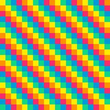 Free 8-bit Seamless Diagonal Rainbow Background Tile Stock Image - 32754851