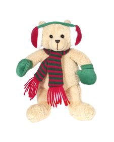 Free Christmas Teddy Bear Royalty Free Stock Photography - 32768847