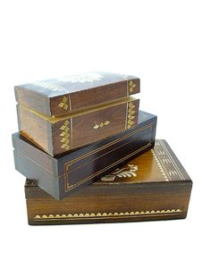 Free Wooden Jewellery Boxes Stock Photography - 32769112