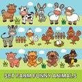 Free Set Funny Cartoon Farm Animals Royalty Free Stock Photography - 32774167