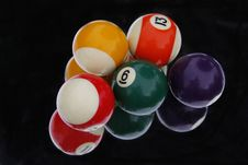 Free Snooker Balls Reflected In Mirror On Black Background Royalty Free Stock Photos - 32773798
