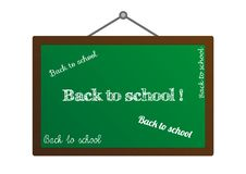 Blackboard With Back To School Texts Royalty Free Stock Photos
