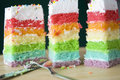 Free Tower Of Rainbow Cake Royalty Free Stock Images - 32794029