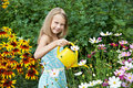 Free Little Girl Watering Flowers Royalty Free Stock Photography - 32794467