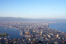 Hakodate Cityscape From Hakodate Royalty Free Stock Image