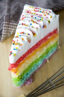 Close Up Top Of Colorful Cake Stock Image