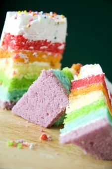 Free Colorful Pieces Of Cake Royalty Free Stock Image - 32793886