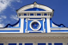 Free Hours On A Facade Of Theatre. Russia. Perm. Stock Images - 32795194