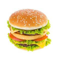 Free Big Hamburger Royalty Free Stock Photos - 32797858